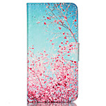 Maple  Pattern PU Leather Phone Case For iPhone 6 /6S