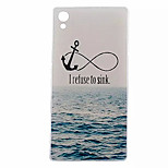 Anchor Pattern Transparent TPU Soft Case for Sony Z5