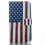U.S.A.-Muster PU-weicher Kasten für iPhone 5 g / 5s