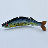 Hot 6.6 Inch 65 Gram Soft Tail Hard Body  Floating  Multi-jointed Swim Bait Fishing Lures