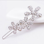 Lucky Doll  Diamonade Zirconia Flower Leaf Long Brooch