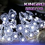 5M 20LED Solar Crystal Diamond String Lights Fine Christmas Party Decortation lights