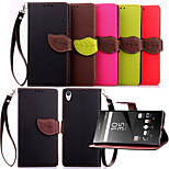 Luxury Leather Card Holder Stand Magnetic Phone Flip Cases Shell Leaf Wallet + Lanyard Cover For Sony Xperia Z5 Premium