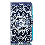 Sun Flower Pattern Card Stand Leather Case with Card Slot for iPhone 6 Plus / 6S Plus
