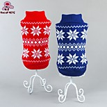 FUN OF PETS®Winter Classic Christmas Snowflake Pattern Sweater Puppy Clothing for Pets Dogs (Assorted Sizes and Colours)
