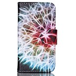Finger Buckle Dandelion Painted PU Phone Case for iphone4/4S