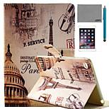 lexy® paris Straßenmuster PU-Leder Flip-Standplatzfall mit Displayschutzfolie und Schreibkopf für ipad mini 4