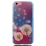 Dandelion Blue laser TPU Pattern Back Cover Mobile Phone Protection Shell for iPhone 6/6S
