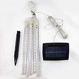 Set of 8 Solar Cosmos 8 Falling Rain Drop/icicle Snow Fall String LED String Lights Xmas Tree Cascading shooting star