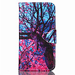 Pink Tree Pattern PU Leather Full Body Cover with Stand for Sony Xperia Z3 Compact