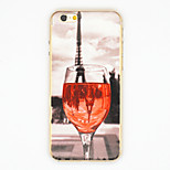 Red Wine Glass Pattern PC Hard Back Cover Case for iPhone 6/6S