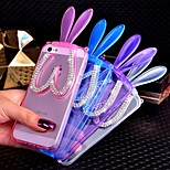 Transparent Rabbit Ears Design TPU Protective Back Cover with Stand for iPhone 5/5S(Assorted Colors)