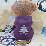 Holdhoney Purple Christmas Tree Pattern Thick Quilted Hooded For Pets Dogs (Assorted Sizes) #LT15050236