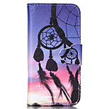Color Dreamcatcher Pattern PU Leather Full Body Cover with Stand for iPhone 6 Plus/iPhone 6S Plus