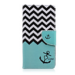 Love Anchor Pattern PU Leather Full Body Cover with Stand for Sony Z5 Compact