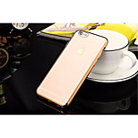 TPU Back Cover + Plating Frame Mixed Color Case For iPhone 6 Plus/6S Plus