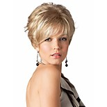 European Women Lady Syntheic Wigs Extensions Charming Blonde wave wigs