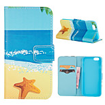 Beach Stars Pattern PU Leather Full Body Cover with Stand for iPhone 6/iPhone 6s