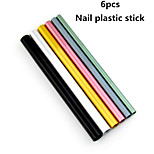 6PCS  Crystal Phototherapy Nail Plastic Stick
