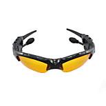 las mini lentes de sol auriculares bluetooth mp3 jugador azul diente gafas de sol auriculares