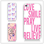 Skull Flower Letters Pattern PC Phone Case Back Cover Case for iPhone5/5S