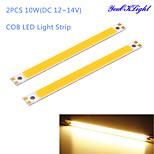 YouOKLight® 2PCS 10W COB 3000K 950lm Warm White Light Strip (DC 12~14V)