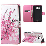 Plum Blossom Wallet PU Leather Stand Case for  Microsoft Nokia Lumia 950XL N950XL
