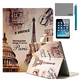 LEXY® Paris Street Pattern PU Leather Flip Stand Case with Screen Protector and Stylus for iPad Air/iPad 5
