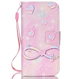 Pink Heart Pattern PU Material Phone Case for iPhone 5C