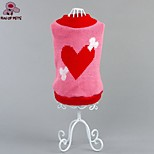 FUN OF PETS® Warm Lovely Red Heart Pattern Dogs Sweater Puppy Clothing for Dogs Pets (Assorted Sizes)
