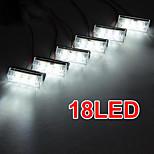 set macchina 18 led bianco emergenza stroboscopio lampeggiante griglia