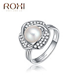 Band Rings Pearl Alloy Fashion Screen Color Jewelry Party 1pc