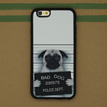 Bad Dog Pattern Sparkle TPU Soft Back Cover Case for iPhone 6/6S