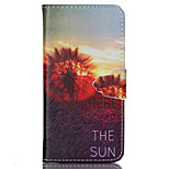 Sunset Glow  Pattern PU Leather Phone Case For iPhone 6 Plus  /6S Plus