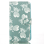 Pineapple PU Leather Wallet with Card Holder and Stand for Iphone 5 5s 5se 6 6s 6Plus 6sPlus