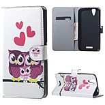Owls and Hearts  Wallet Leather Stand Case for Acer Liquid Z630 Z630s (5.5 inch)