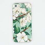weiße Lilie Muster Glitzern TPU weiche rückseitigen Abdeckung für iphone 5 / 5s