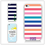 Chromatic Stripe Pattern PC Phone Case Back Cover Case for iPhone5/5S