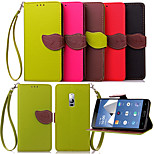 Luxury Leather Card Holder Stand Magnetic Phone Flip Cases Shell Leaf Wallet + Lanyard Cover For One Plus Two