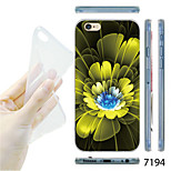 MAYCARI®Blooming Flowers Pattern TPU Soft Transparent Back Case for iPhone 6