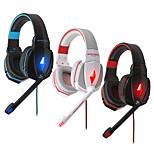 ruido estéreo G4000 cancelando auriculares para juegos w / controlador de alta fidelidad micrófono llevó la luz para la PC