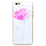 Plum Flower Pattern Transparent PC Back Cover for iPhone 6