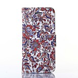 Flower Pattern Card Stand Leather Case for iPhone 6/6S