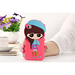 Cartoon Shell Silicone Sets Mobile Phone Protection Shell For Apple iPhone 4/4S(Assorted Color)