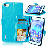 Crazy Horse Flip PU Leather Stand Phone Case Cover with Card Slots for Huawei Honor 6 (Assorted Colors)