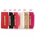 Hangbag Shape with Hand Strap Top-quality PU+TPU Leather Case with Diamond and Kickstand for Iphone5S
