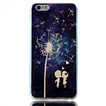 Lovers dandelion Pattern Blu-ray TPU Soft Back Cover Case for  iPhone 6/6S