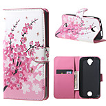 Plum Blossom Wallet Leather Stand Case for Acer Liquid Z320 Z330