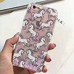 moda brillo fluorescente diseño unicornio arenas movedizas dinámico brillo PC caso duro de la cubierta para el iphone 6 / 6s