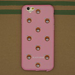 Little Bear Head with Dust Plug Pattern TPU Soft Back Cover Case for iPhone 6/6S
